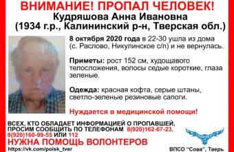 В Тверской области ищут старушку в зелёных резиновых сапогах