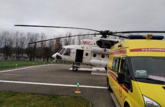 В Тверской области срочно эвакуировали вертолётом двух пациентов с острой коронарной патологией
