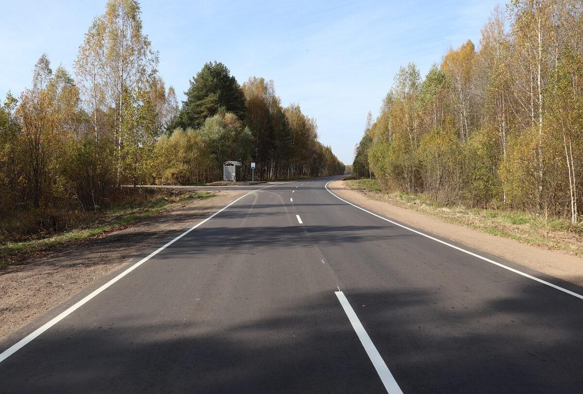 В Тверской области отремонтировали ещё 20 километров важной региональной дороги