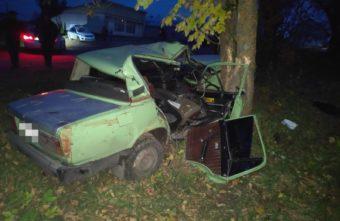 Лихач вылетел с трассы в Тверской области и врезался в дерево
