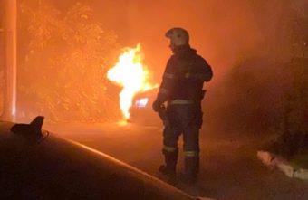 Вечером на Волоколамском проспекте в Твери сгорел автомобиль