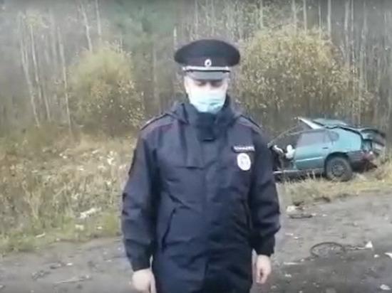 Появилось видео с места смертельного ДТП с Камазом подо Ржевом