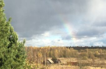 Фото дня: жители Тверской области наблюдали октябрьскую радугу