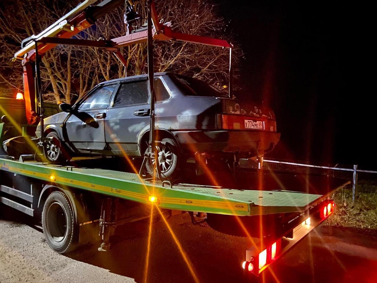 Пьяный водитель лишился машины в деревне под Тверью
