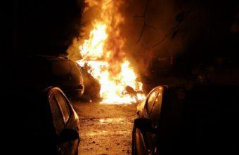 Ночью в Тверской области полыхал BMW