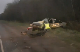 Опубликовано видео с места смертельного ДТП под Тверью