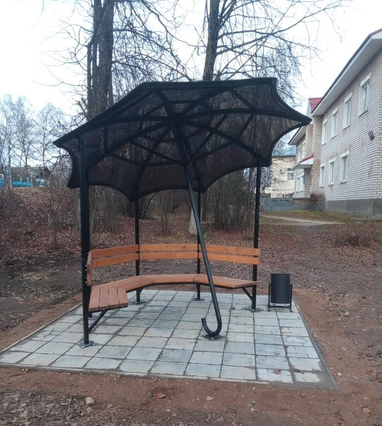 В Тверской области появилась необычная беседка для отдыха и фотосессий