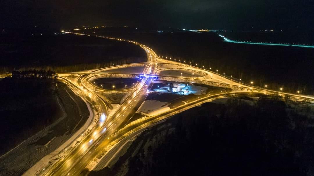 В Тверской области путь по М-10 осветят 900 новых фонарей