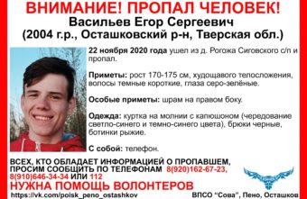 Стали известны приметы подростка, которого ищут в Тверской области