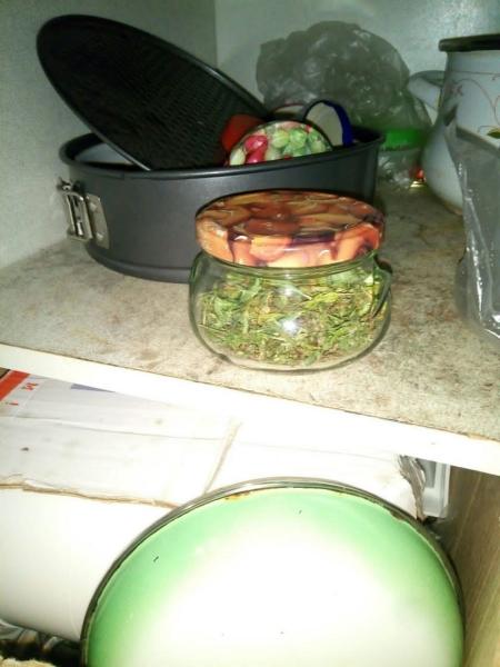 Житель Тверской области закатывал марихуану в стеклянные банки