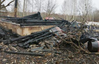 В сгоревшем доме в Тверской области нашли останки человека