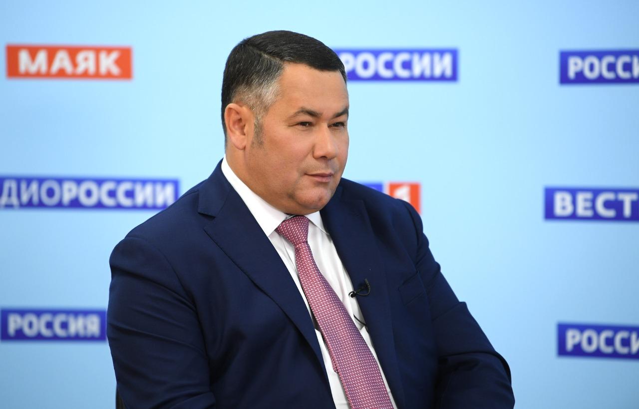 Учебный процесс и вакцинация: губернатор Тверской области вновь выйдет в эфир