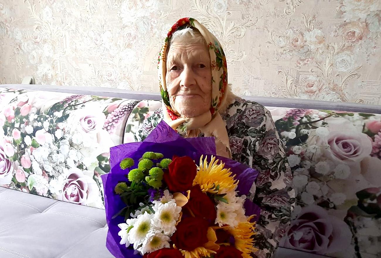 Участница Великой Отечественной войны Екатерина Белько празднует в Твери столетний юбилей