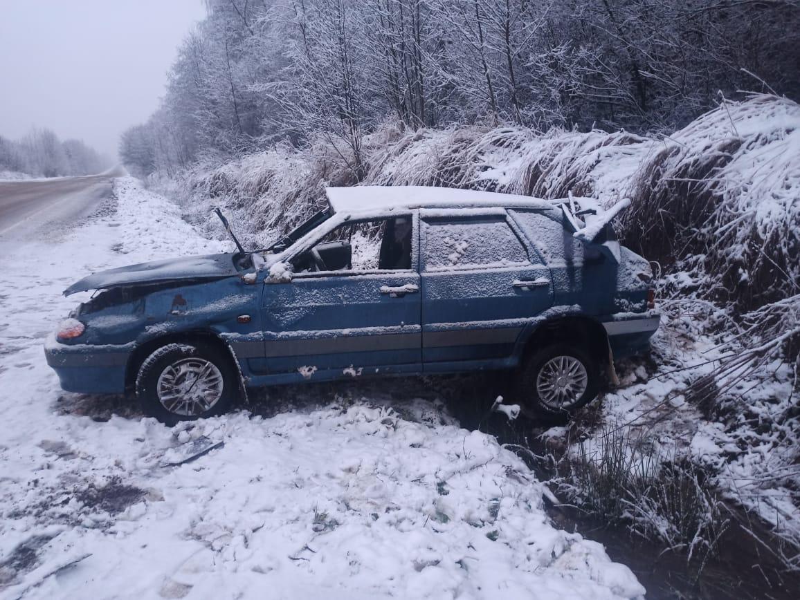 Двое мужчин пострадали в перевернувшейся машине в Тверской области