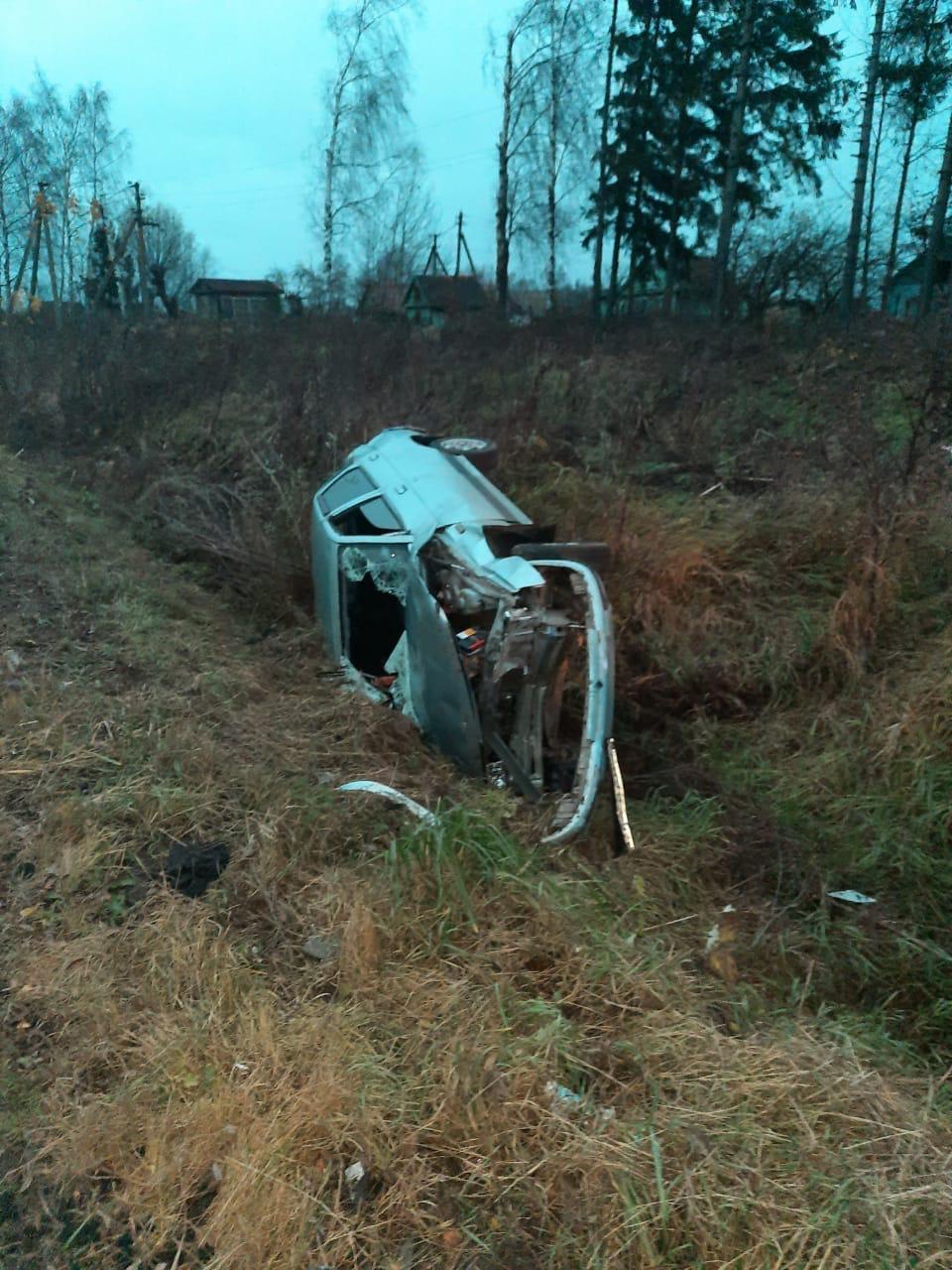 Пьяный водитель перевернулся в Тверской области