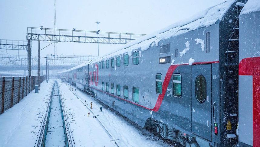 В новогодние праздники через Тверскую область пустят ещё один двухэтажный поезд