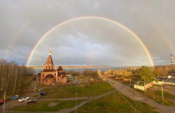 В Тверской области увидели двойную радугу