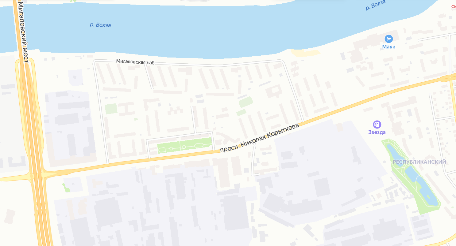 Проспект Корыткова появился в навигаторе и онлайн-картах Твери