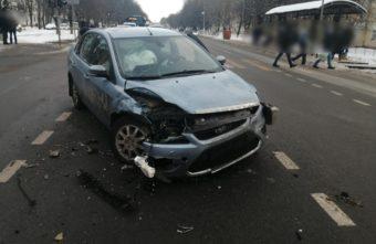 В Твери из-за столкновения машин образовалась пробка