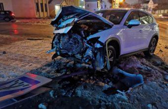 В Тверской области водитель врезался в иномарку и сбежал