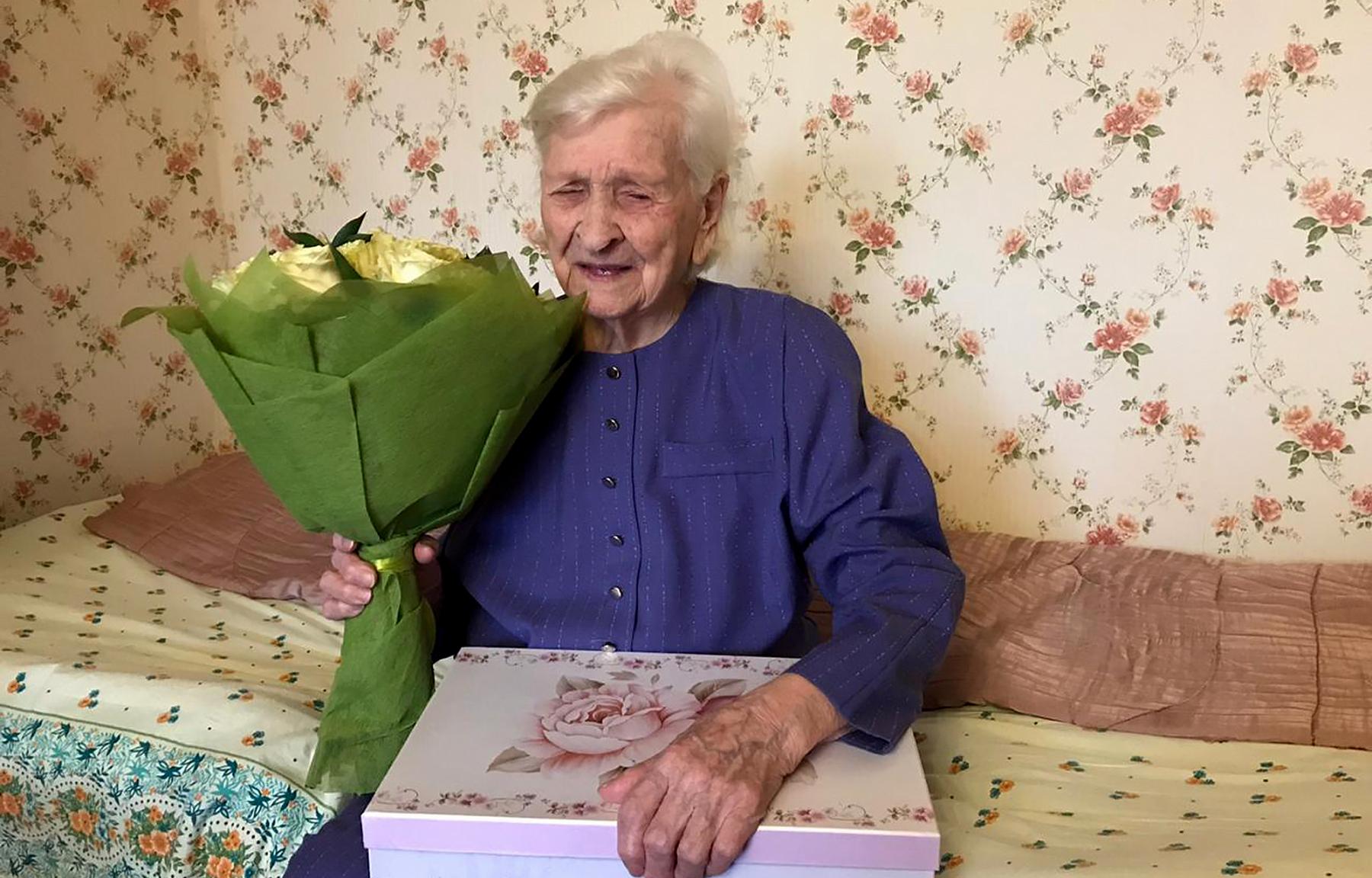 Ветерану Екатерине Ларионовой из Тверской области исполнилось 100 лет