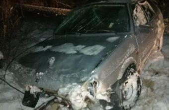 Начинающий водитель улетел на ВАЗе в кювет в Тверской области