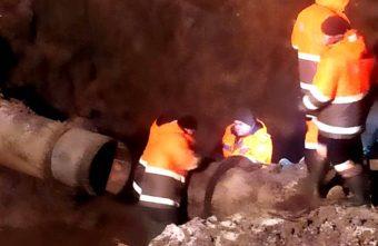 К утру в Твери ликвидировали прорыв водовода