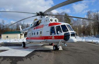 За новогодние праздники вертолётами эвакуировали пациентов из 4 районов Тверской области