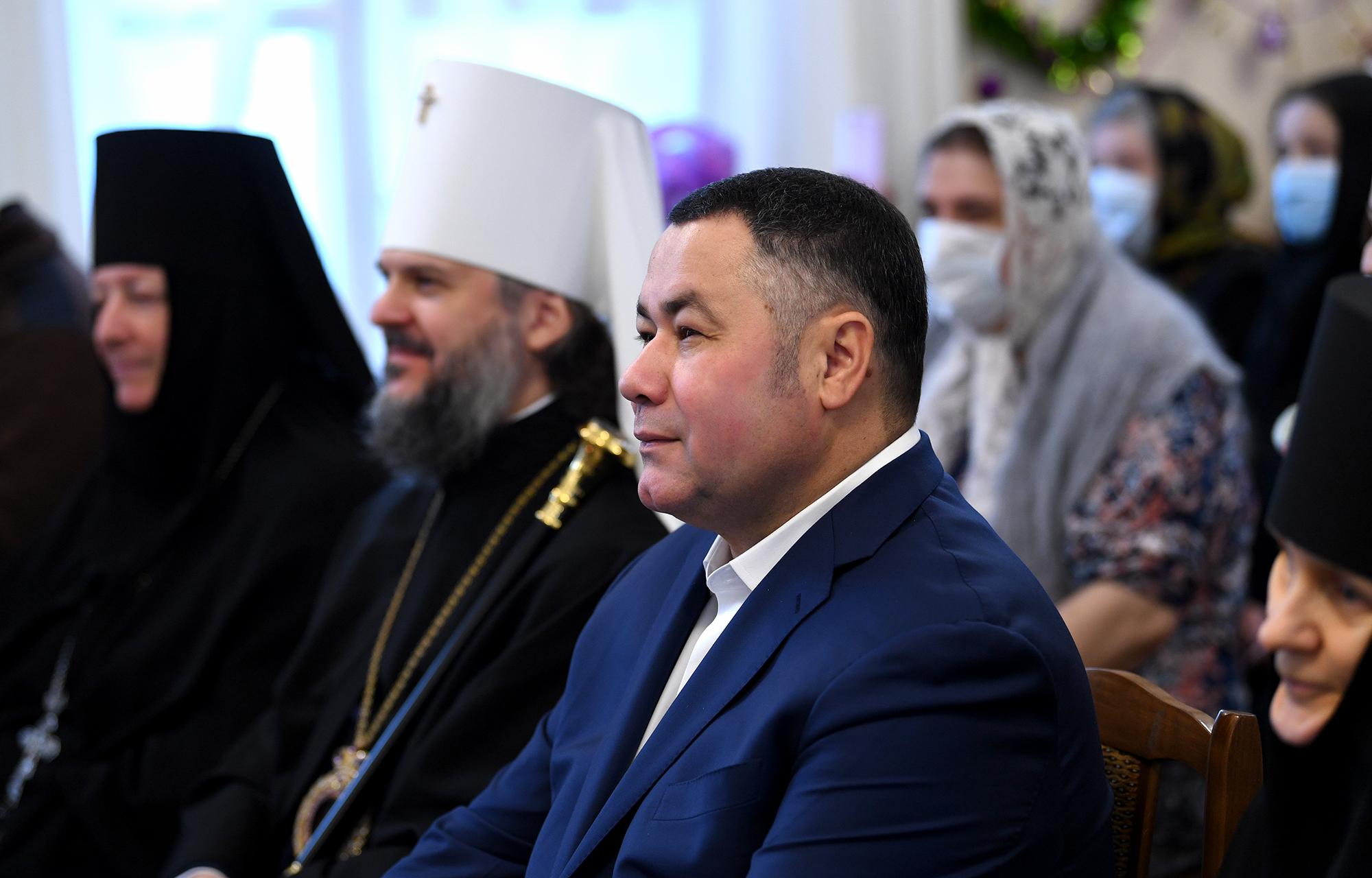 Игорь Руденя посетил праздник в честь Рождества Христова в Вознесенском Оршином монастыре