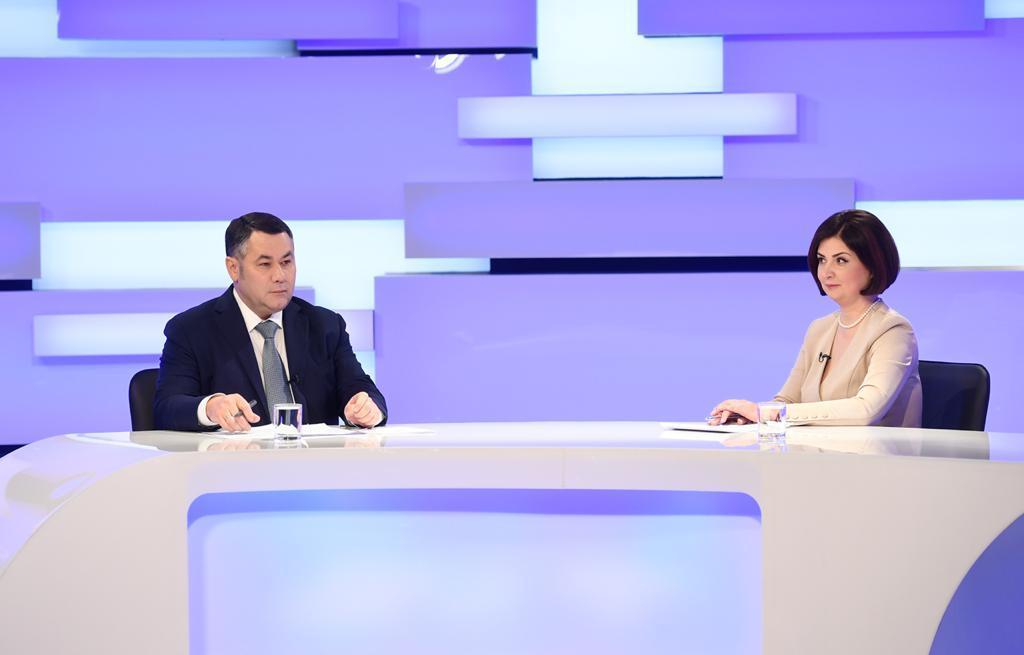 Игорь Руденя впервые в новом году ответил на актуальные вопросы в прямом эфире