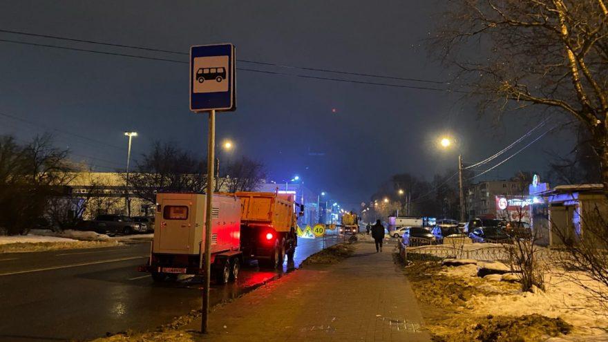 В Твери провалился асфальт на проспекте Победы