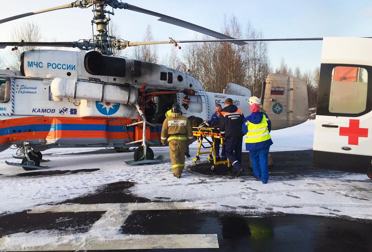 Санавиация Тверской области совершила экстренный вылет в Санкт-Петербург