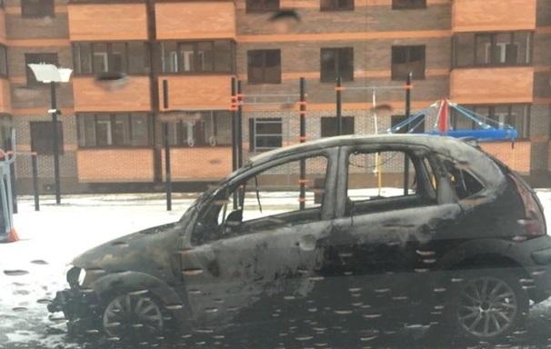 Французская иномарка сгорела в деревне под Тверью