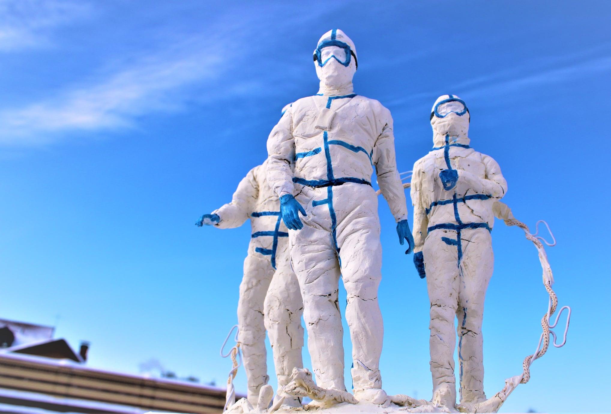 Тверской монах сделал эскиз памятника врачам с огромной бактерией за спиной