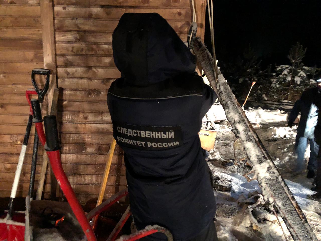 Опубликовано видео пожара в Тверской области, где погибли 4 человека