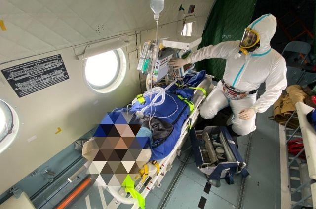 Пациентку ковидного госпиталя санавиация экстренно доставила в Тверь