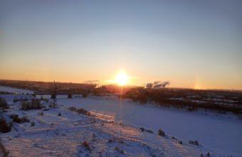 Гало удивило жителей Тверской области морозным утром