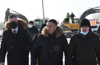 На новой железнодорожной станции под Ржевом побывал губернатор Тверской области