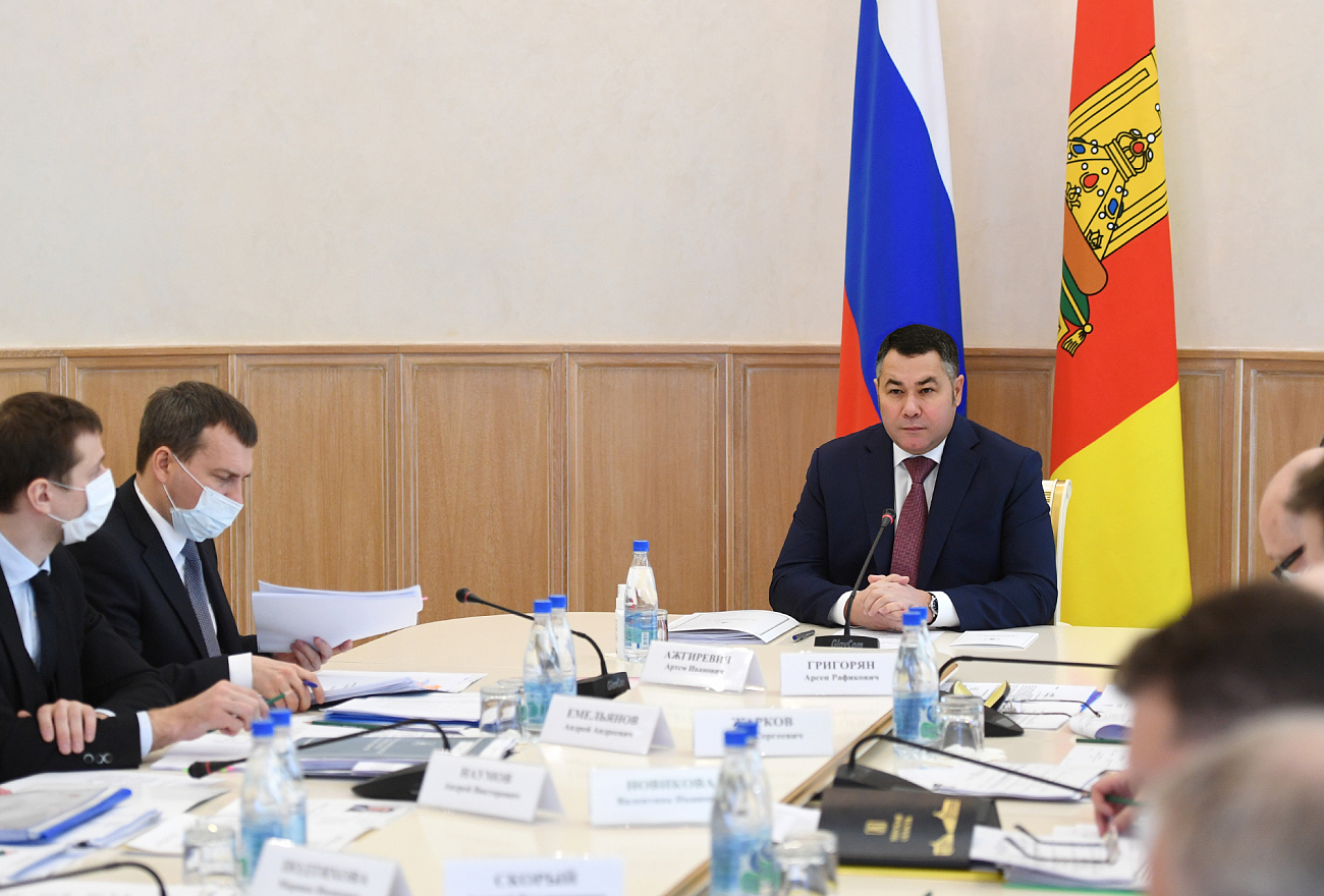 Ледяной дождь обсудили на совещании Правительства Тверской области