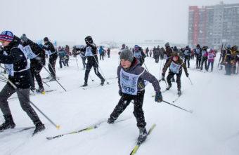 Тверские любители лыж не испугались снежной бури