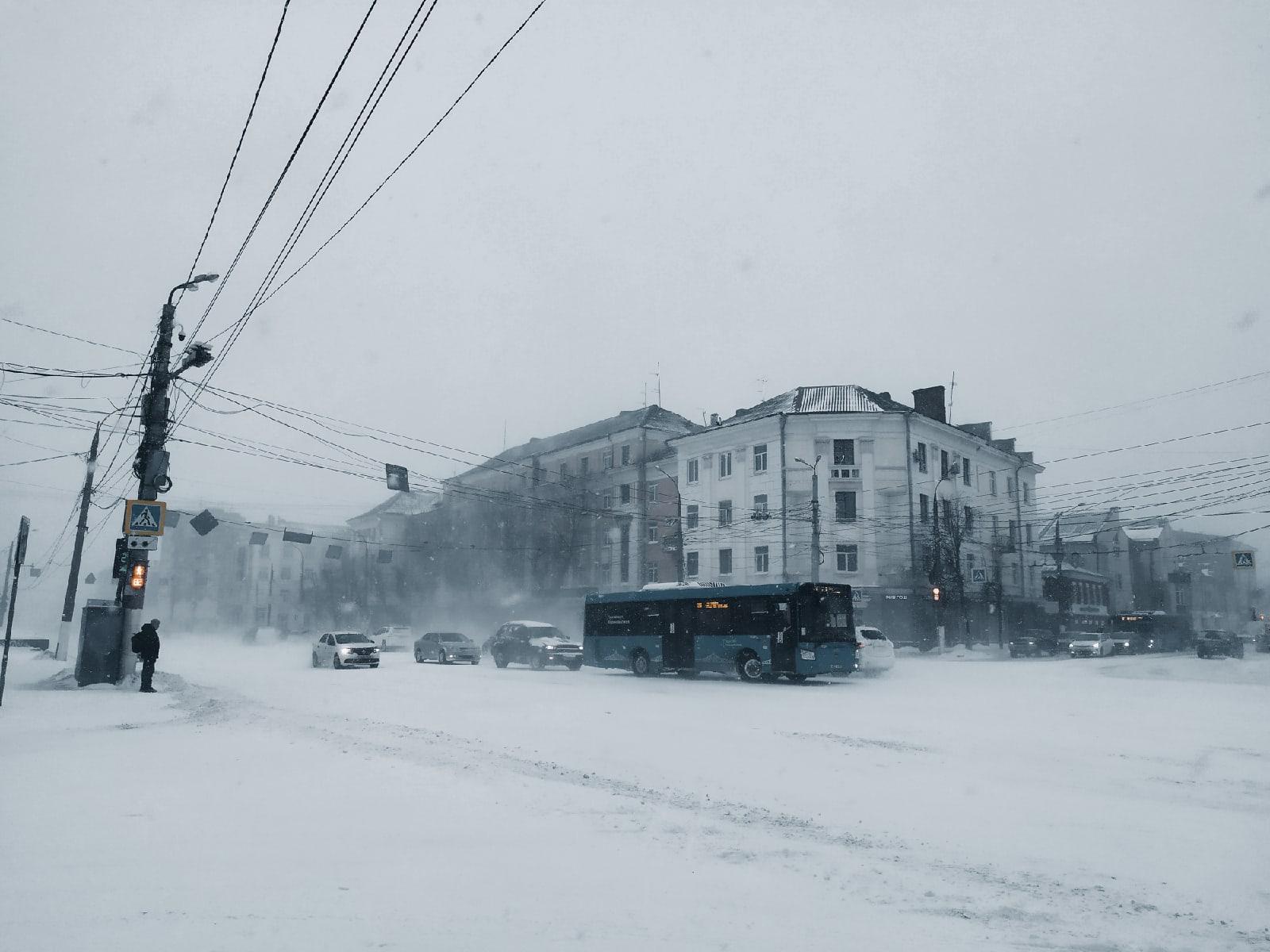 Большой снежный фронт надвигается на Тверскую область