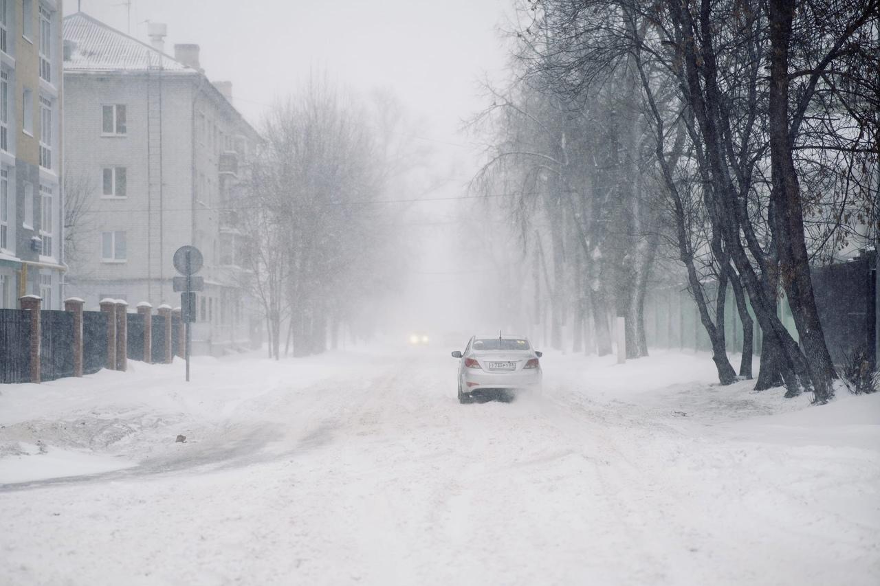 Снежная буря накрыла Тверь