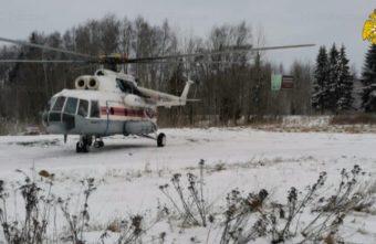 Пациента в тяжелом состоянии доставили на вертолёте в Тверь