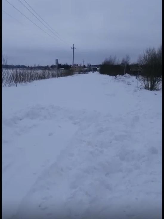 Деревня в Тверской области оказалась оторванной от цивилизации