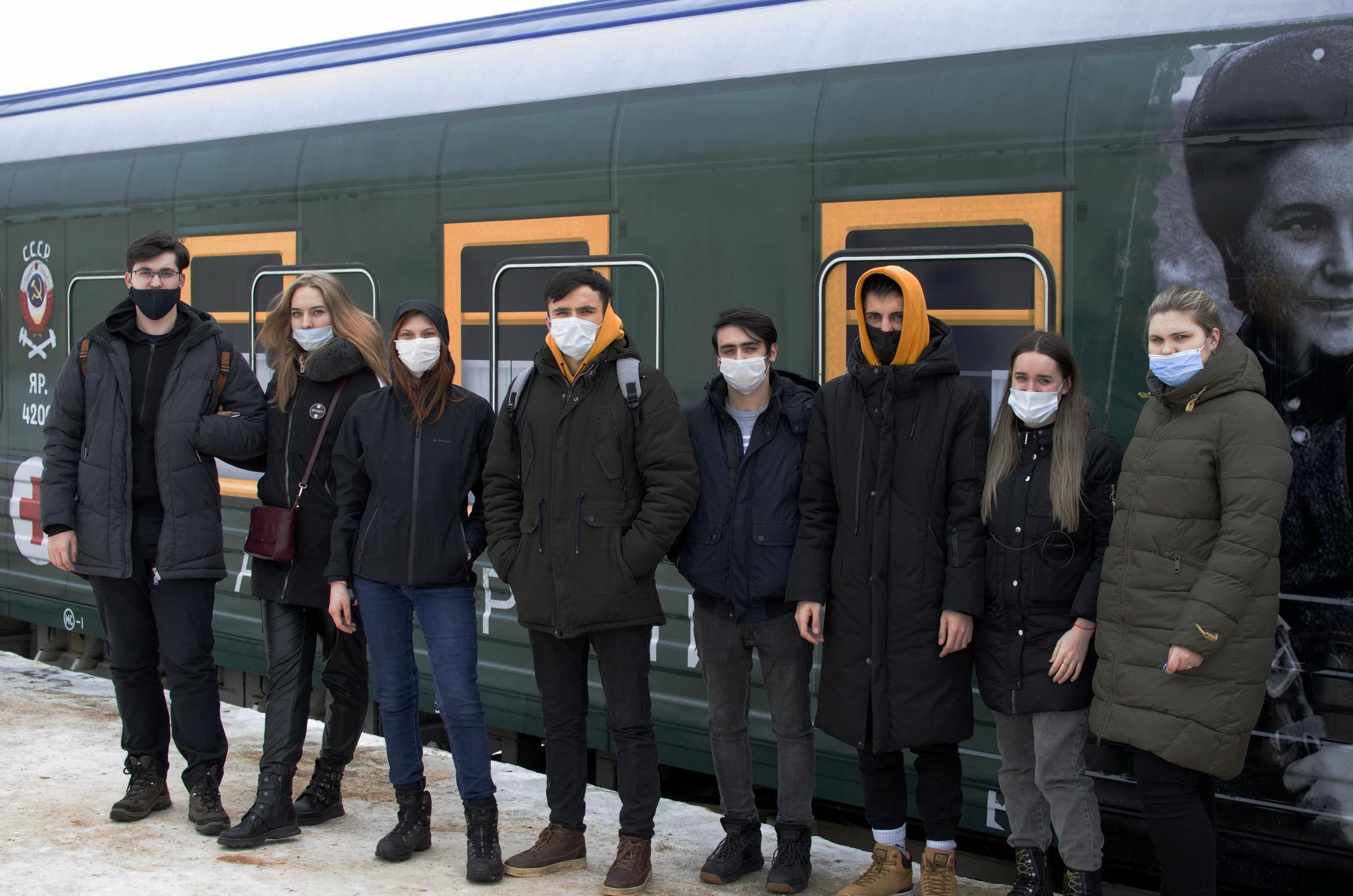 СтудентыТвГТУпобывали в передвижном музее «Поезд победы»