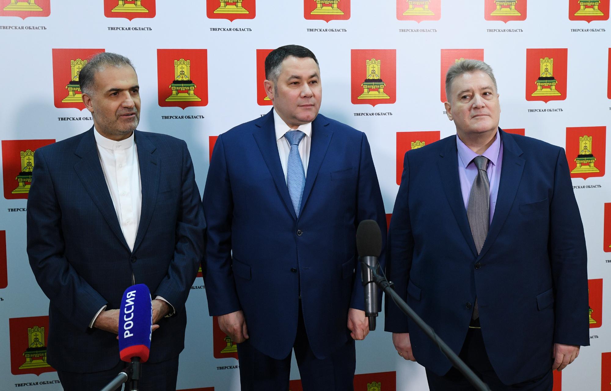 Игорь Руденя отмечен в рейтинге «Губернаторская повестка» по итогам переговоров с послом Ирана