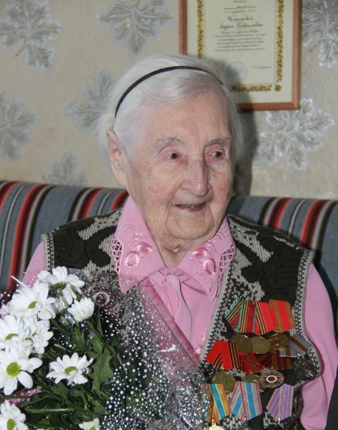 Жительница Тверской области Лидия Челнокова отмечает 100-летний юбилей