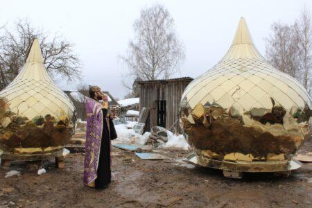 Над храмом в Тверской области появились золотые купола