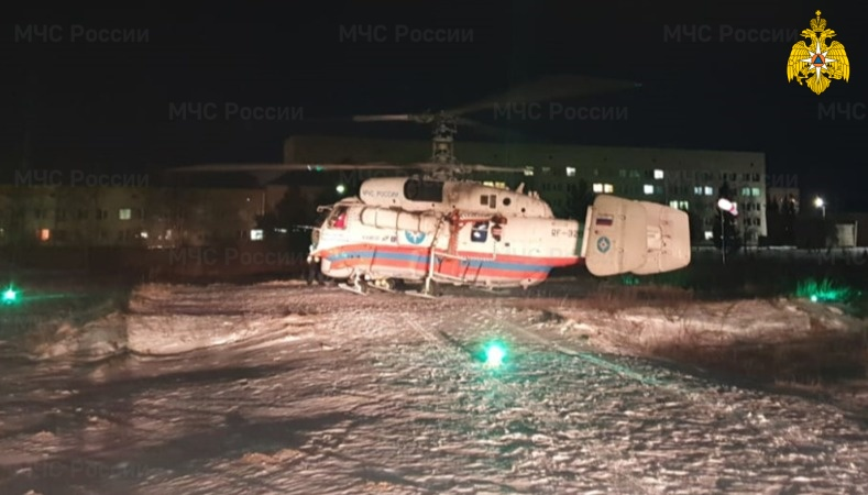 Ночью санитарный вертолёт экстренно вылетел в дальний район Тверской области