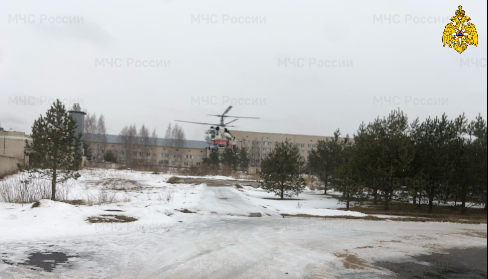 Жителя Тверской области доставили в ОКБ по воздуху